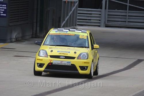 Richard Kemp in the BRSCC Fiesta Championship at Silverstone, April 2016