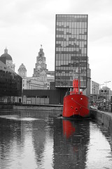 Canning Dock - Liverpool (Chris Dimond) Tags: red liverpool reflections ships filter 2015 portofliverpool canningdock