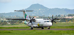 Green Bird - F-OIXD (Maxime C-M ) Tags: west green bird airplane french photography airport nikon martinique aircraft aviation air express nikkor 3s departure spotting turboprop antilles dpart indies atr taxiway aroport taxing fdf atr42 972 madinina roulage d3200 tfff at 55300 at45 turbopropulseur