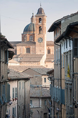 Urbino (Marches, Italy) (clodio61) Tags: street old italy house building tower church window lamp vertical architecture town ancient streetlight europe day clr nb belfry shutter urbino traditionalculture py od marches montefeltro urbanscene italianculture europeanculture