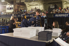 College Graduation - Faculty Point of View (aaronrhawkins) Tags: college stand student university hand crowd graduation picture engineering celebration shake commencement graduate gown professor faculty robes byu capandgown diplomas brighamyounguniversity smithfieldhouse aaronhawkins