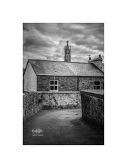Back Lane Church (silver/halide) Tags: urban blackandwhite bw church monochrome architecture belltower d750 romancatholic backlane penzance johnbaker 50mm18g theimmaculateconceptionofourlady roseveanroad