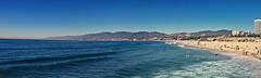 Santa Monica (Nate Buchman) Tags: ocean santa panorama west home landscape coast la pier losangeles waves santamonica wideshot monica westcoast