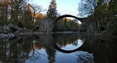 Yes, I love this bridge ... (Harald Steeg) Tags: germany landscape saxony kromlau rakotzbridge dmcfz1000 haraldsteeg