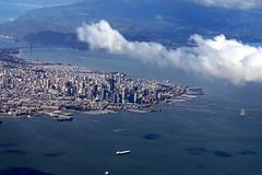 San Francisco from above (mattk1979) Tags: ocean sanfrancisco california above usa window coast pacific unitedstatesofamerica aerial