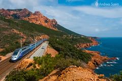 TGV Duplex 280 SNCF (Andrea Sosio) Tags: france train duplex alstom treno tgv sncf 280 provencealpescotedazur altavelocita 6864 nikond60 antheor caproux societenationaledescheminsdeferfrancais andreasosio