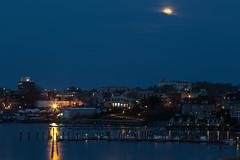 Evening Moon (aka Buddy) Tags: moon river spring nj full og redbank 2016 navesink