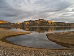 IMGP2882-Edit (Matt_Burt) Tags: light sunset lake reflection beach calm alpenglow bluemesa