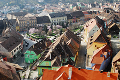 Sighisoara (PM Kelly) Tags: street travel tower tourism town cityscape view tourist romania sighisoara outstandingforeignphotographersvisitingromania