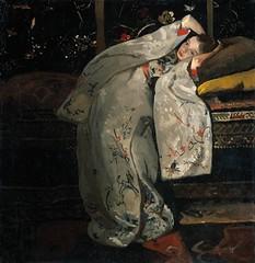 Girl in a White Kimono, 1894 // by  George Hendrik Breitner (mike catalonian) Tags: portrait painting children fulllength nl 1890s 1894 georgeheidrikbreitner