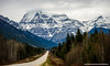 Majestic Mount Robson (Witty nickname) Tags: road trees mountain snow mountains ice nature clouds landscape spring highway cloudy outdoor britishcolumbia overcast roadtrip mountrobson 70200mm mountrobsonprovincialpark yellowheadhighway yellowhead nikond800 nikkor70200mmf28vrii