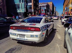 SPVM Montreal Police 2012 Dodge Charger Police Car Downtown Montreal (CopCarAddict) Tags: street new city urban sun canada cars car landscape downtown mtl quebec montreal police sunny vehicles dodge emergency charger stcatherine edit saintecatherine dodgecharger spvm policecars emergencyvehicle montrealpolice downtownmontreal citypolice policecanada