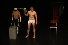 How To Be A Man @JonathanColem 26-27 July @kingssalford #storytelling #LGBT #political (Greater Manchester Fringe) Tags: new uk summer england festival naked manchester book actors open pants cheshire boxers northwest skin theatre britain bare stage events yorkshire lies political performance lancashire bee clothes entertainment lgbt barefeet choices nudity northern drama salford stripped questions boyhood revealing secrets crisis outfits masculinity underpants barechest storytelling answers manhood kingsarms revelations soloshow noshoes jonathancoleman bravefront howtobeaman what'son greatermanchesterfringe