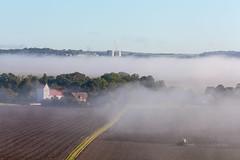 l_ 3U4A3501_MartenSvensson (Bad-Duck) Tags: hst kyrka landskap dimma kultivator trakor claas stmning morgondimma rstid knstorp hst2015