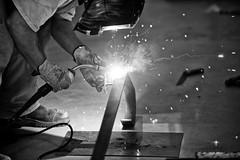 Stair handrail - welding(b&w) (bne-almost zen) Tags: artisans artistsatwork d3s