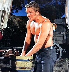 "Scott (Denny) Miller in ""Wagon Train"" (stalnakerjack) Tags: actors tv hollywood beefcake physique wagontrain tvwesterns scottdennymiller"