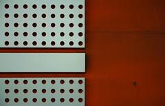 wer immer das Rot durchbricht (raumoberbayern) Tags: red abstract rot munich mnchen concrete steel dot holes minimal ubahn beton stahl robbbilder lcher urbanfragments punkte