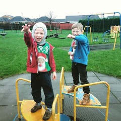 The good thing about taking Luke... (nathanrobinson2) Tags: winter twins play imagination lukeskywalker christmaseve uploaded:by=flickstagram starwarstheforceawakens kyloren instagram:photo=1147059299594535746184137303
