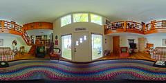 lake house (114/366) (severalsnakes) Tags: door vacation house lake us unitedstates interior 360 missouri rug lakeoftheozarks ricoh ozark spherical braided degrees theta camdenton thetas theta360 saraspaedy