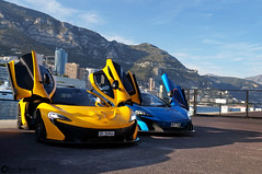 McLaren P1 & McLaren 675LT (Marcinek_55) Tags: road street blue paris car yellow racecar port de photography hotel italian harbour outdoor top unique sony cream fast montecarlo monaco exotic mclaren april vehicle carlo autoracing cote monte 55 marques supercar hercules fairmont spotting 57 azur p1 sportscar voitures exotics supercars v12 sportcar a57 2016 shmee spotter sportcars marcinek gespot spottes deparis hypercar topmarques hypercars autogespot exoticsonroad monacosupercars supercarsinmonaco shmee150 675lt