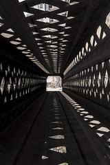 Abstract Covered Bridge (The Wandering Cameraman) Tags: bridge geometric vermont structure multipleexposure d750 coveredbridge woodstock woodstockvermont