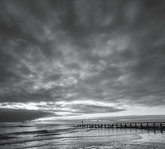 The Beach.. (LoneWolfA7ii) Tags: light sea sky blackandwhite bw art beach water clouds contrast mono scotland seaside sand waves outdoor sony aberdeen shore groyne a7ii
