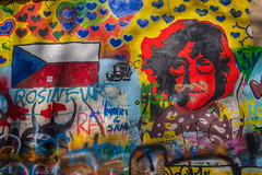 John Lennon Wall, Prague (jaeg1982) Tags: canon czech prague czechrepublic spraypaint johnlennon thebeatles grafitty