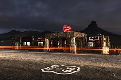 Cool Springs, Route 66 (Aztravelgrl (Sandra Jungling)) Tags: longexposure nightphotography arizona usa lightpainting us lowlight route66 unitedstates abandon goldenvalley coolsprings