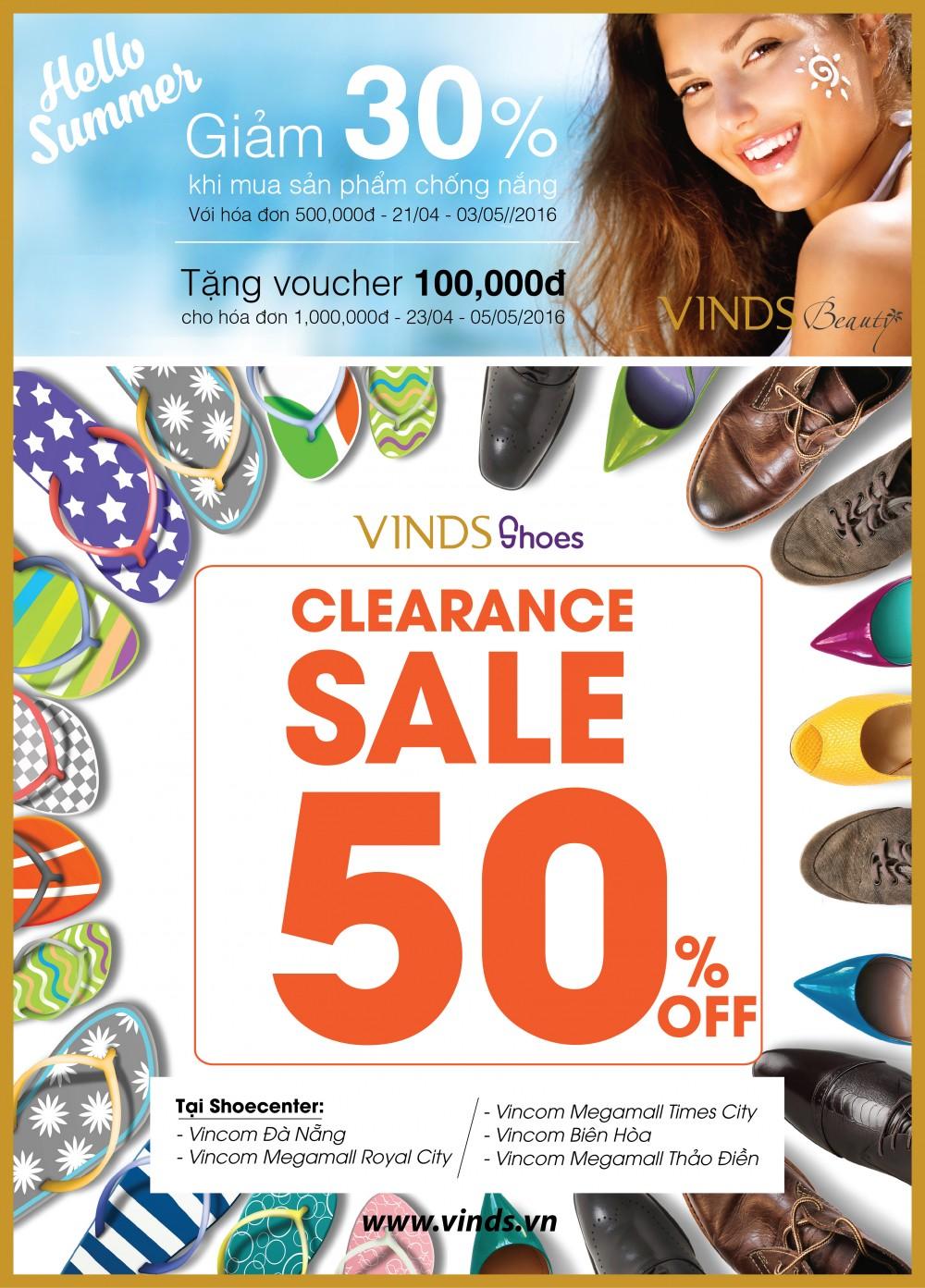 Ưu đãi lớn từ VINDS Shoes và VINDS Beauty