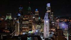 City Lights (Thank you for 4M+ views.) Tags: blue usa clock philadelphia night america landscape lights skyscrapers pennsylvania cityhall nickfewings
