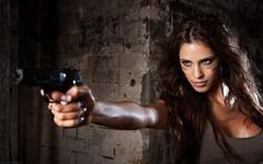 Gun Battle (A Gun & A Girl.) Tags: girls muscles blood arms guns hotgirls sexygirls girlswithguns shootingguns gettingshot gunshotwounds hotguns girlsshootingguns girlsgettingshotwithaguns