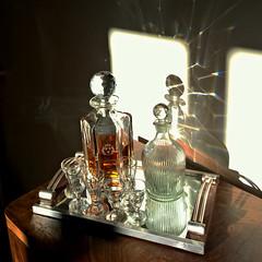 Yo ho ho and a bottle of rum... (polbar) Tags: france glasses marseille pom bottles tray artdeco homesweethome rhum