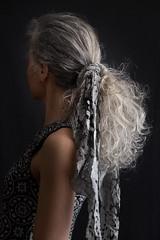 F0052 ~ Grey hair, like silver... (Teresa Teixeira) Tags: woman artist trendy trend cv greyhair teresateixeira cristinavaladas naturalgreyhair greysilverhair