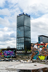 Allianz Graffiti (xelleron) Tags: man berlin germany deutschland graffiti lafayette platz side hauptstadt potsdamer sigma east charlie galleries segway alexander impressionen tor brandenburger bundestag friedrichshain berliner mauer molecule kanzleramt checkpoint oberbaumbrcke gallerie 1835mm spreeufer nikond7100
