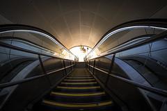 Light in tunnel (Hkan Dahlstrm) Tags: travel station copenhagen denmark photography escalator central f10 staircase dk 8mm uncropped danmark kbenhavn 2016 kpenhamn kbenhavnv xe2 130sek 801052016103439