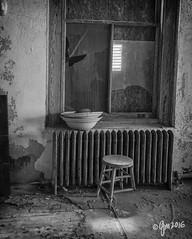 3-Legged Stool (gmckel50) Tags: urban building abandoned window hospital interior room urbanexploration stool abandonedhospital