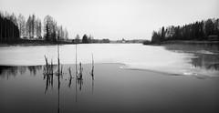 Lake Kaukojrvi (Antti Tassberg) Tags: travel blackandwhite bw ice nature monochrome field finland landscape spring outdoor microsoft xl luonto 950 jrvi j kevt lumia pelto pureview iphoneography theappwhisperer haapasilta lumia950 lumia950xl kaukojrvi