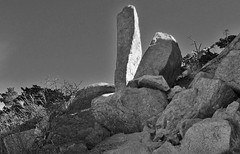 How does a monolith decide where to be? (spysgrandson--thanks for 2,000,000 views!) Tags: blackandwhite oklahoma monochrome wichitamountains monolith sonycybershot sgs 122315 spysgrandson