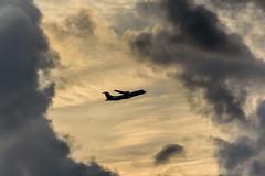 Above the clouds (innlai) Tags: clouds sunrise nikon sigma planes d750 70300 balikpapan