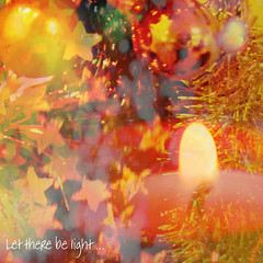 Let There Be Light ... Happy Holidays! (virtually_supine popping in and out) Tags: light texture candle bright bokeh vividcolour tinsel montage colleage photoshopelements9 baubale christmasandnewyear20152016