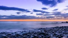 Smooth (pn.praveen) Tags: sunset italy beach liguria pebblebeach cinqueterre riomaggiore italianriviera