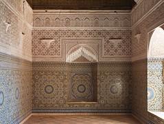 Interior, El Glaoui Kasbah (nisudapi) Tags: tile pattern mosaic symmetry morocco kasbah 2015 telouet elglaoui