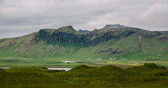 View in Vik area (Igor Sorokin) Tags: travel panorama mountains green clouds landscape island iceland nikon europe view seagull scenic vik hills volcanic distant severe d7000