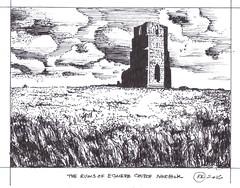 Egmere Church (Richard Kennard) Tags: ruins ruinedchurch peninkdrawing egmerechurchnorfolk