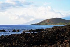Pu'u Olai and Makena from Ahihi Cove (heartinhawaii) Tags: ocean blue sea seascape hawaii lava coast mar seaside pacific shoreline maui shore kai redhill lavafield 808 lavarocks bigbeach landcsape rockyshoreline puuolai makenabeach ahihicove southmaui nikond3300 mauiinnovember ahihinaturereserve makenafromahihi redhillfromahihi westmauisilhouette