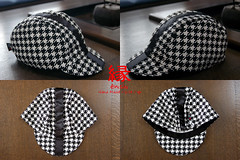 Hound's Tooth Classicline Black (jun.skywalker (enishi hand made cyclecap)) Tags: black japan kyoto handmade houndstooth nishijin cyclingcap  enishi  cyclecap classicline