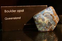 Boulder Opal (Piedmont Fossil) Tags: rock museum sydney australia collection national rough opal gem gemstone
