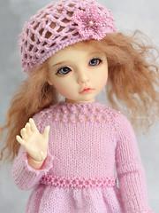 Lovely Elin  (Maram Banu) Tags: pink doll handmade elin bjd bid yosd iplehouse marambanu
