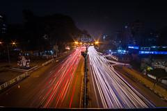 Lightspeed (arnabjosephite) Tags: city longexposure light lightpainting night speed lights slowshutter nightlife dhaka bangladesh longshutter overbridge nightcity lightspeed lightstream lightbending nightroad poribagh poribaghoverbridge
