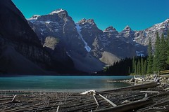 Canada, Lake Moraine (crispin52) Tags: mountain canada nature landscape lakemoraine blueoutdoordriftwood